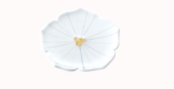 花形中皿(ホワイト)