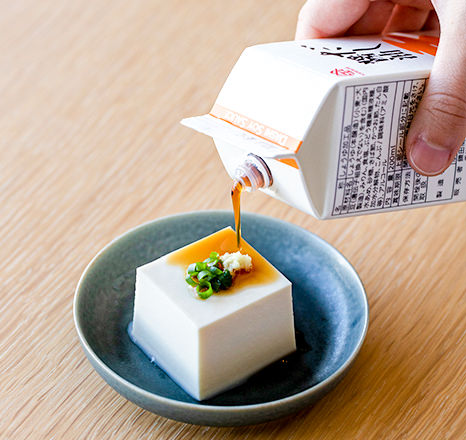 だし醤油と豆腐