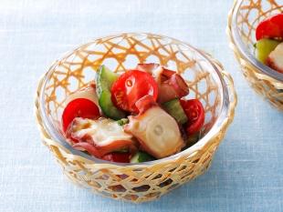 タコときゅうりとミニトマトのマリネ