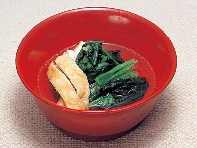 Komatsuna no Nibitashi (Braised Japanese Mustard Spinach)
