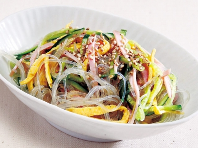 Easy Harusame (Bean-starch Vermicelli) Salad