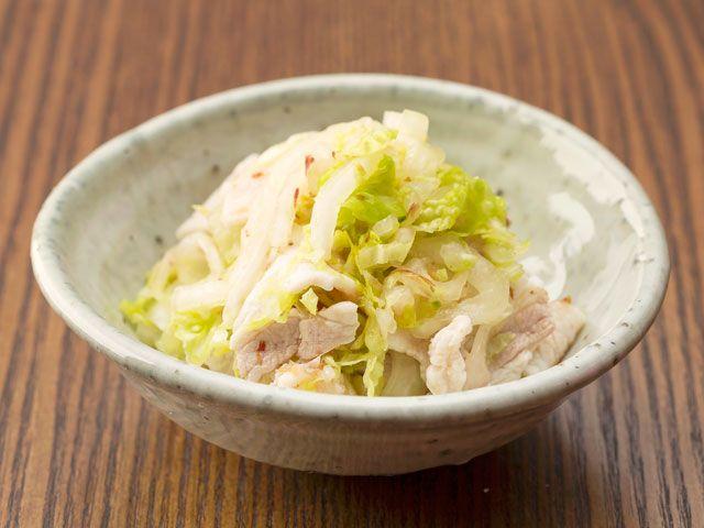 豚肉と白菜のおかか和え