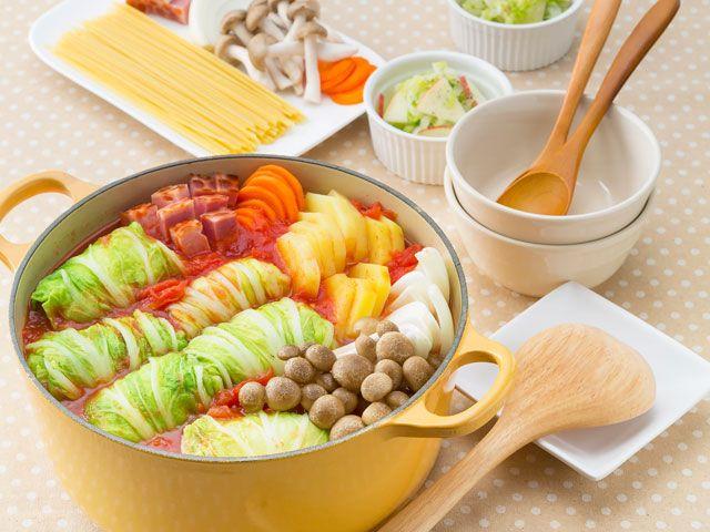 ロール白菜のトマト鍋