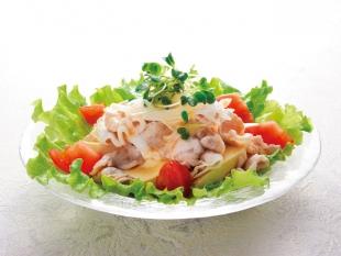 冷しゃぶ豆腐サラダ