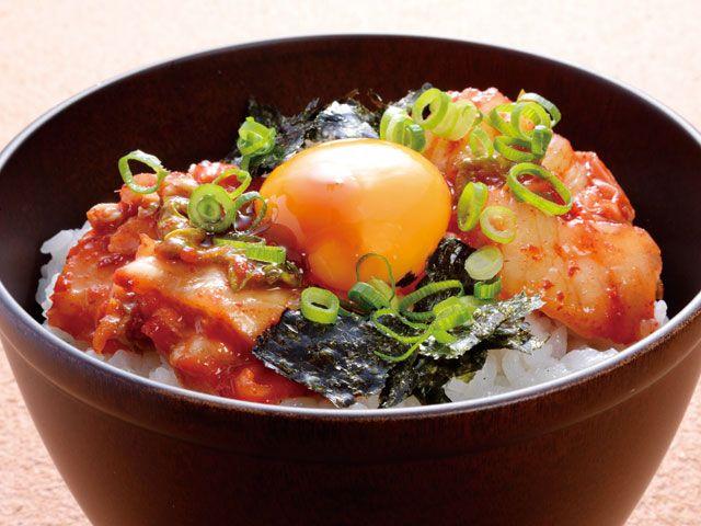 甘辛キムチ卵かけご飯