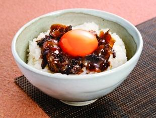 きのこ煮の卵かけご飯