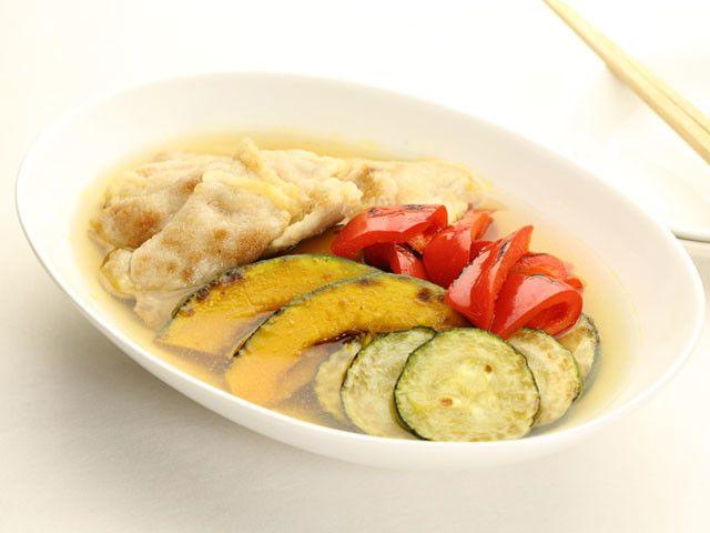 夏野菜と豚肉の焼き浸し