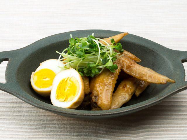 手羽先と卵のぽん酢醤油煮