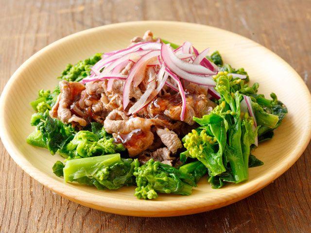 菜の花と牛肉のサラダ
