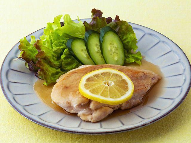 鶏むね肉のレモンソースかけ