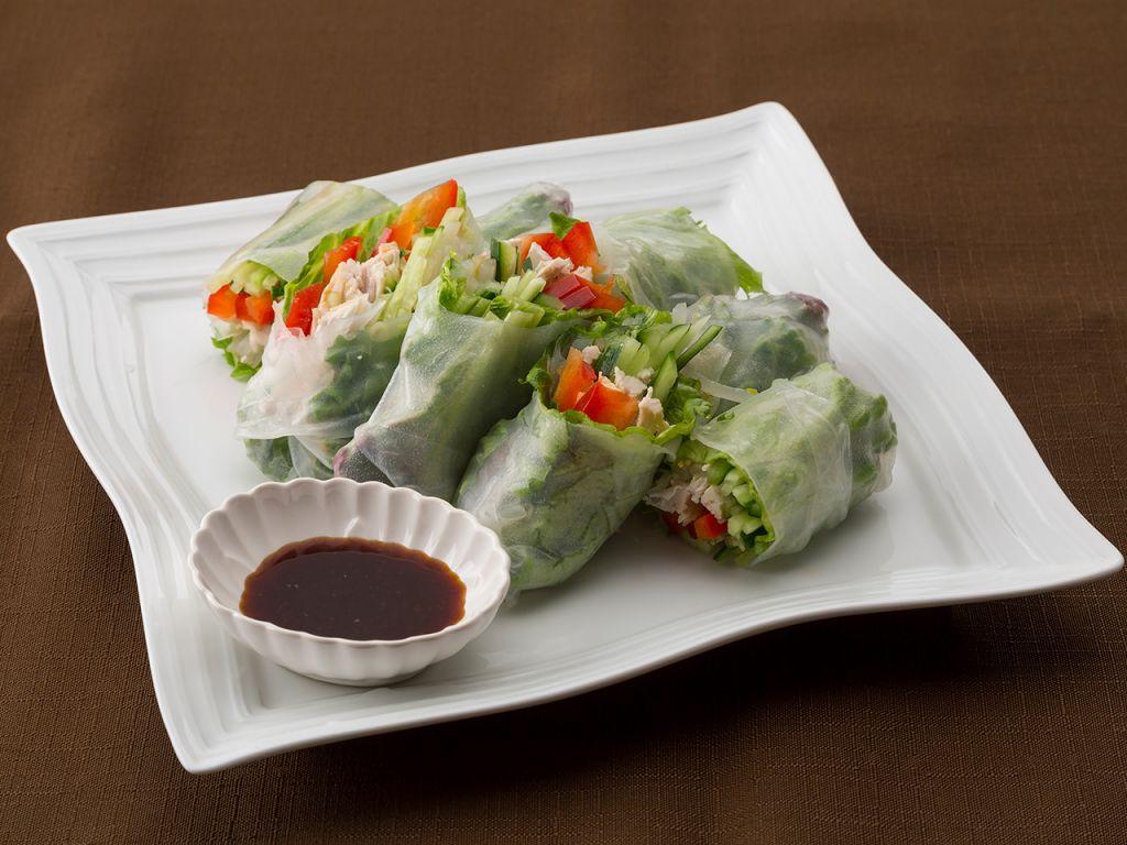 鶏肉と野菜の生春巻