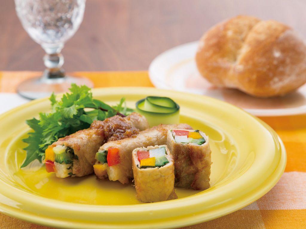夏野菜の豚肉ロール