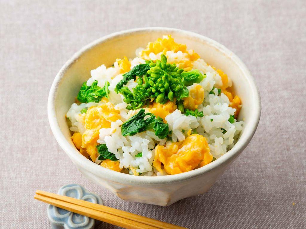 菜の花と炒り卵の混ぜご飯